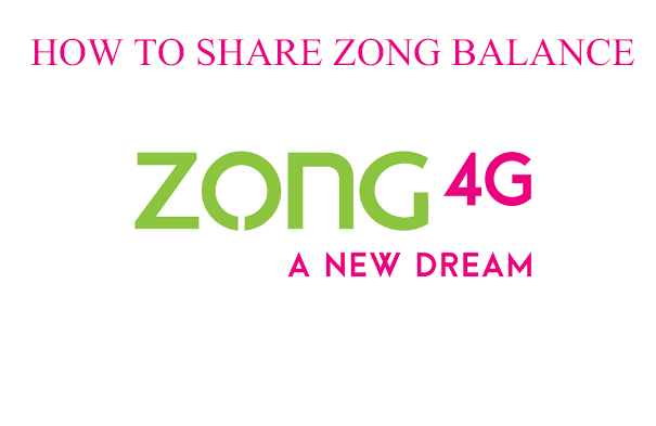 how to share zong balance